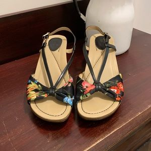Dansko wedge floral sandals